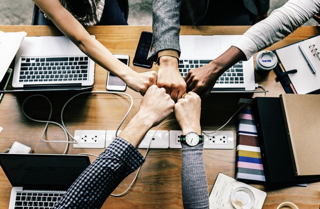 Team eines Startup